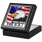 Don't Mess with the US! Keepsake Box