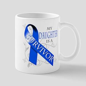 My Daughter is a Survivor (blue) Mug