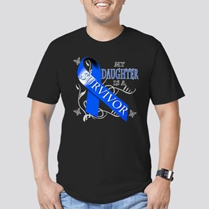 My Daughter is a Survivor (blue) Men's Fitted T-Sh
