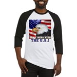 Don't Mess with the US! Baseball Jersey