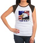 Don't Mess with the US! Women's Cap Sleeve T-Shirt