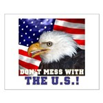 Don't Mess with the US! Small Poster