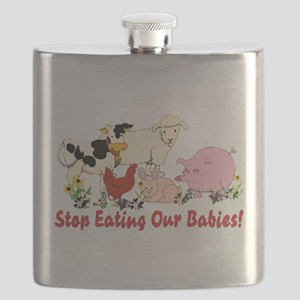 Stop Eating Our Babies Flask