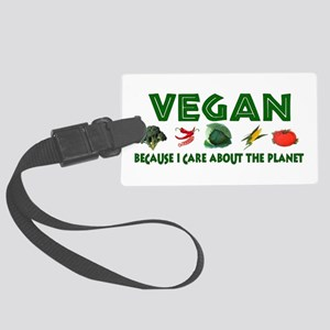 Vegans Care About Planet Large Luggage Tag