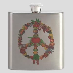 Veggie Peace Sign Flask