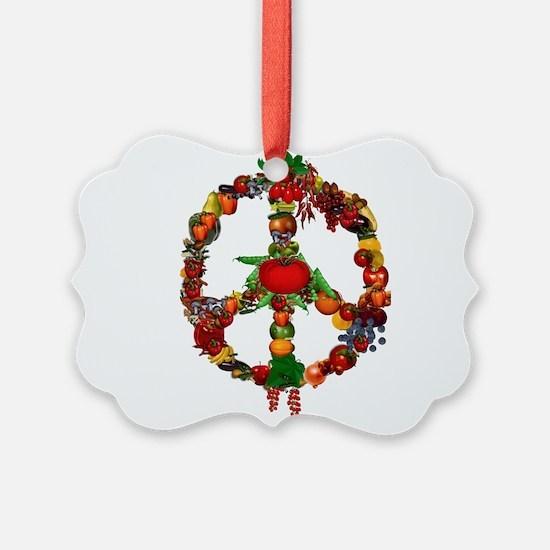 Veggie Peace Sign Ornament