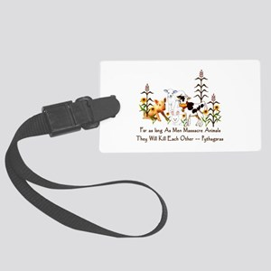 Pythagoras Vegetarian Quote Large Luggage Tag