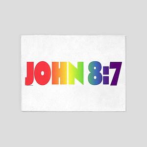 JOHN 8:7 5'x7'Area Rug