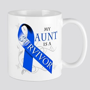 My Aunt is a Survivor (blue) Mug