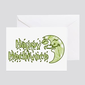 Happy Herbivore Vegetarian Greeting Cards (Package