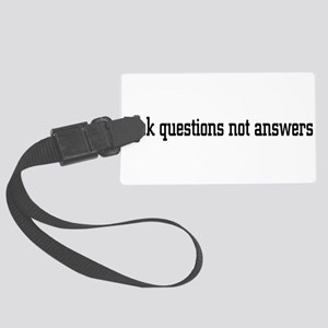 questions01 Large Luggage Tag