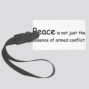 peacecon01 Large Luggage Tag