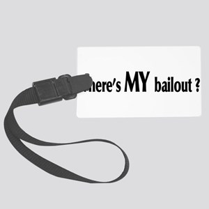 bailout01 Large Luggage Tag