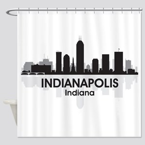 Indianapolis Skyline Shower Curtain