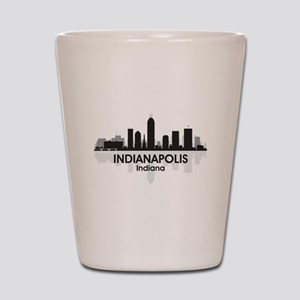 Indianapolis Skyline Shot Glass