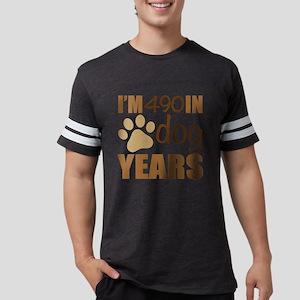 70th Birthday Dog Years Mens Football Shirt