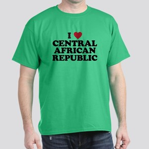 I Love Central African Republic Dark T-Shirt