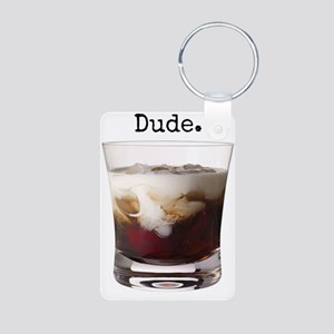Big Lebowski White Russian Aluminum Photo Keychain