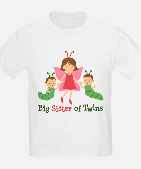 Big Sister of Twins - Butterfly T-Shirt
