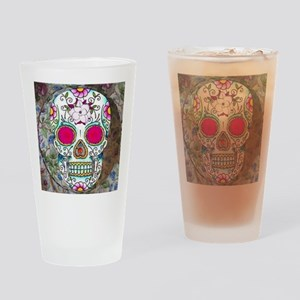 Tea Cup Sugar Skull Drinking Glass