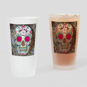 Tea Cup Sugar Skull Drinking Glass
