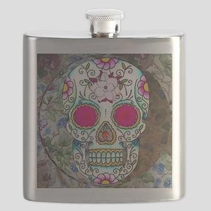 Tea Cup Sugar Skull Flask