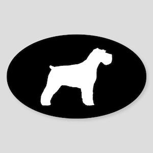 Floppy Ears Schnauzer Sticker (Oval)