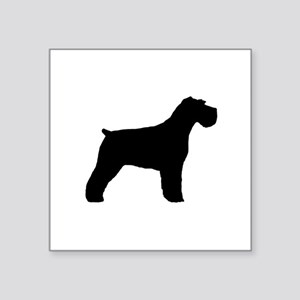 "Floppy Ears Schnauzer Square Sticker 3"" x 3"""