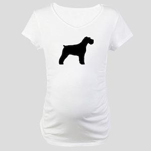 Floppy Ears Schnauzer Maternity T-Shirt