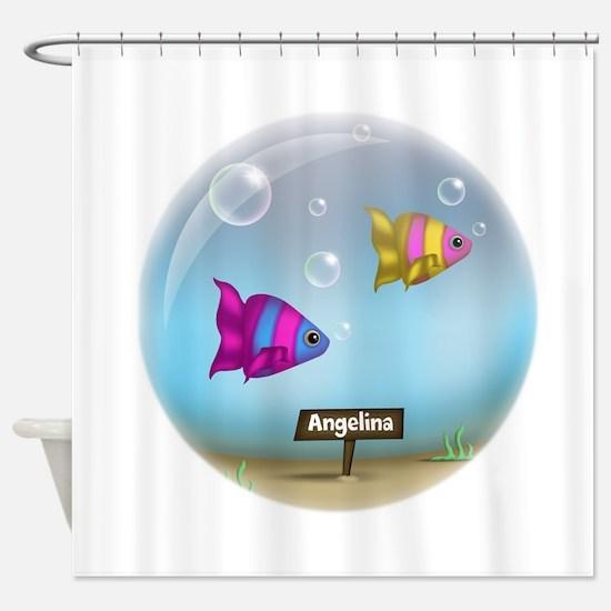 Under the Sea Aquarium - Personalized Shower Curta