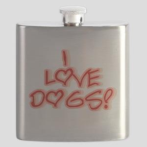 HEARTSILOVEDOGS Flask
