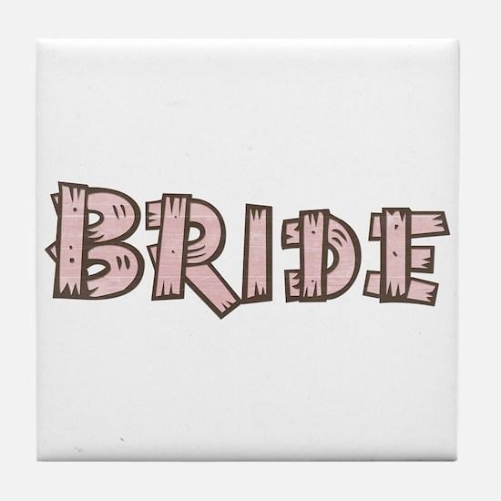 Country Wedding Bride Tile Coaster