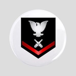 "Navy PO3 Gunner's Mate 3.5"" Button"