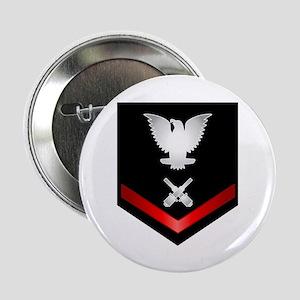 "Navy PO3 Gunner's Mate 2.25"" Button"