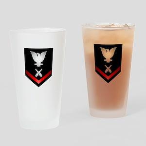 Navy PO3 Gunner's Mate Drinking Glass