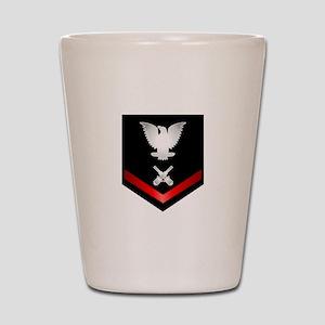 Navy PO3 Gunner's Mate Shot Glass