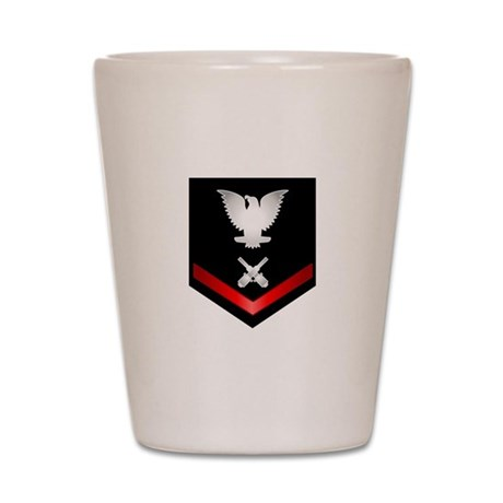 Navy PO3 Gunner's Mate Shot Glass