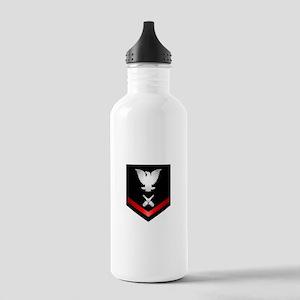 Navy PO3 Gunner's Mate Stainless Water Bottle 1.0L