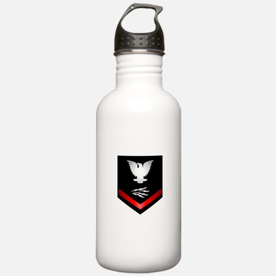 Navy PO3 Information Technician Water Bottle