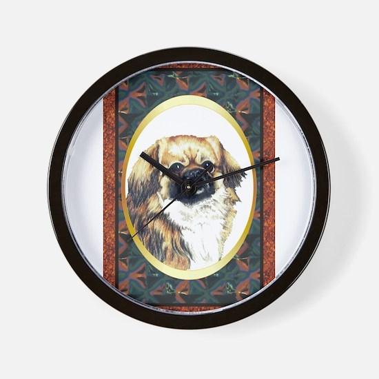 Tibetan Spaniel Designer Wall Clock
