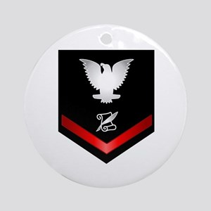 Navy PO3 Journalist Ornament (Round)
