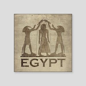 "Vintage Egypt Square Sticker 3"" x 3"""