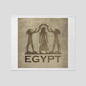 Vintage Egypt Throw Blanket