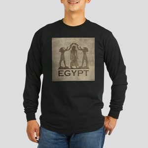Vintage Egypt Long Sleeve Dark T-Shirt
