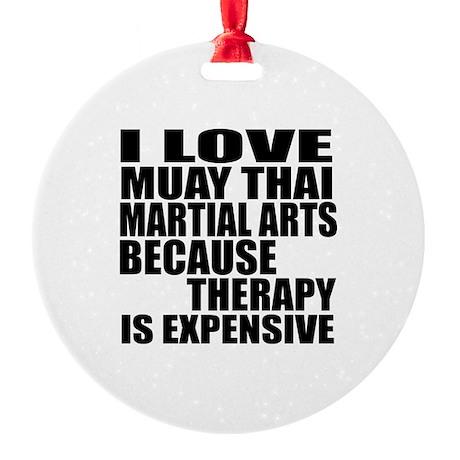 Muay Thai Martial Arts Therapy Round Ornament