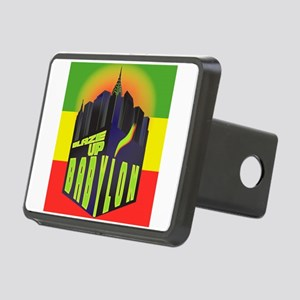 Blaze Up Babylon Logo Rectangular Hitch Cover