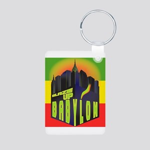 Blaze Up Babylon Logo Aluminum Photo Keychain