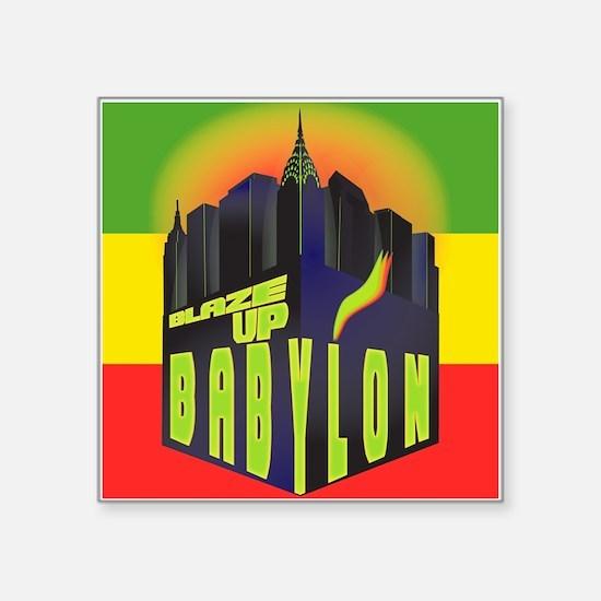 """Blaze Up Babylon Logo Square Sticker 3"""" x 3"""""""