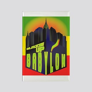 Blaze Up Babylon Logo Rectangle Magnet
