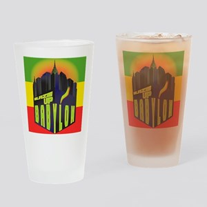 Blaze Up Babylon Logo Drinking Glass